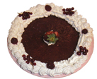 Red berry glace pie